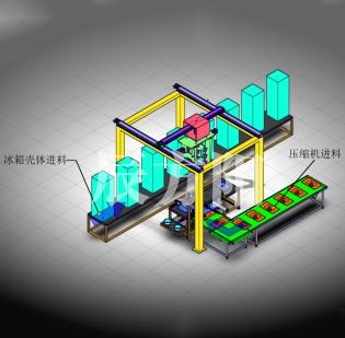昆山电冰箱等家电壳体装配及自动上钉系统