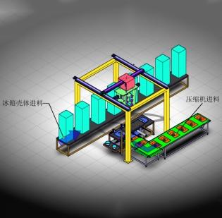 黑龙江电冰箱等家电壳体装配及自动上钉系统