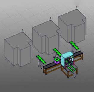 靖江电机轴类产品自动进料、加工、检测系统